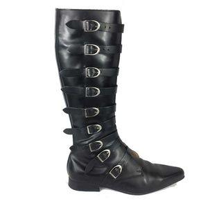 RARE Underground Goth Punk Winklepicker Knee Boots